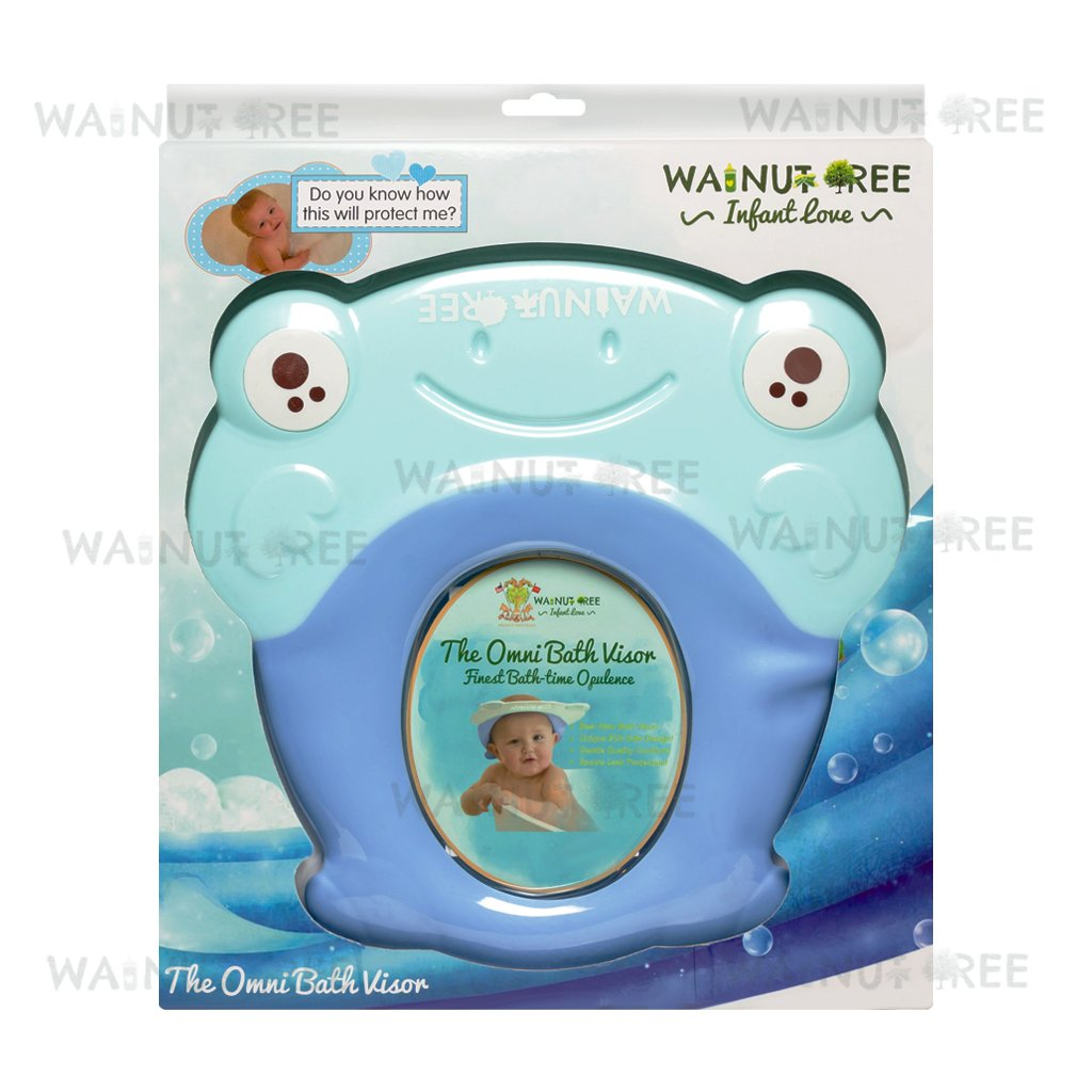 Amazon.com : Walnut Tree: The Omni Bath Visor (Blue) : Baby