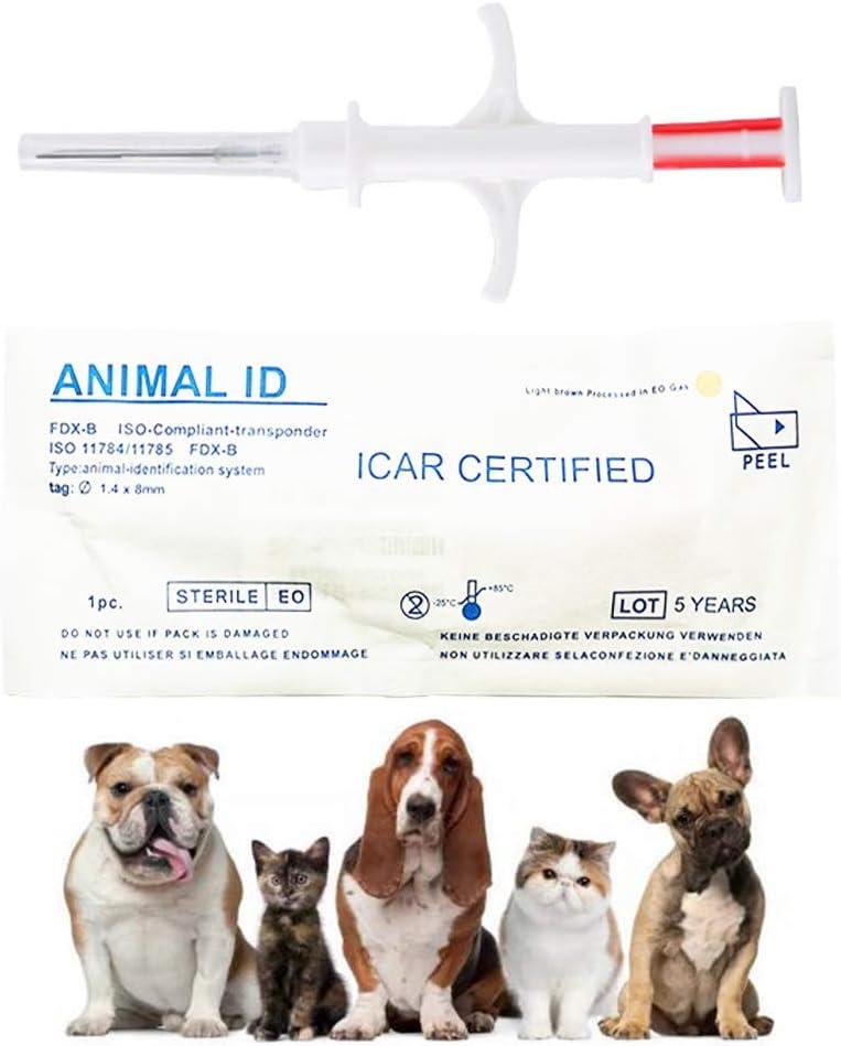 DDZ 20 Pack Universal Standard Pet Microchip, 134.2kHz ISO11784/ISO11784/FDX-B Pet ID Tags, 15 Bit RFID Microchip Dog for Animal/Pet/Dog/Cat/Pig