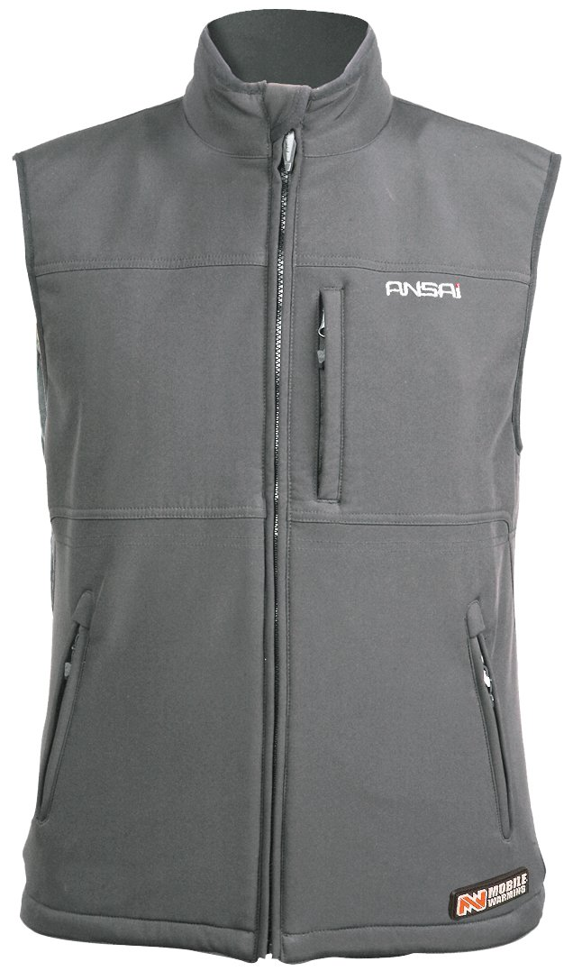 Mobile Warming Classic Vest Heated Textile Men's Motorcycle Heated Vest (Gun Metal, XX-Large) 7109-0907-08
