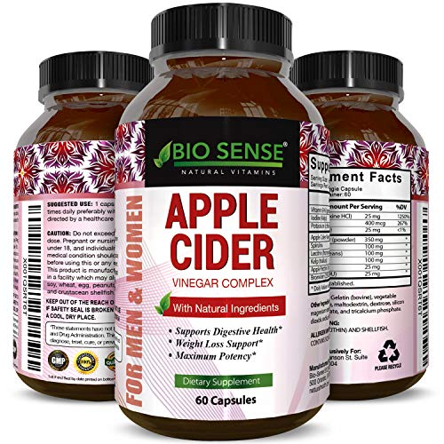 Apple Cider Vinegar Pills for Weight Loss - Extra Strength Fat Burning Supplement - Pure Detox Cleanse & Digestion Support - Natural Apple Cider Vinegar Capsules for Men & Women -