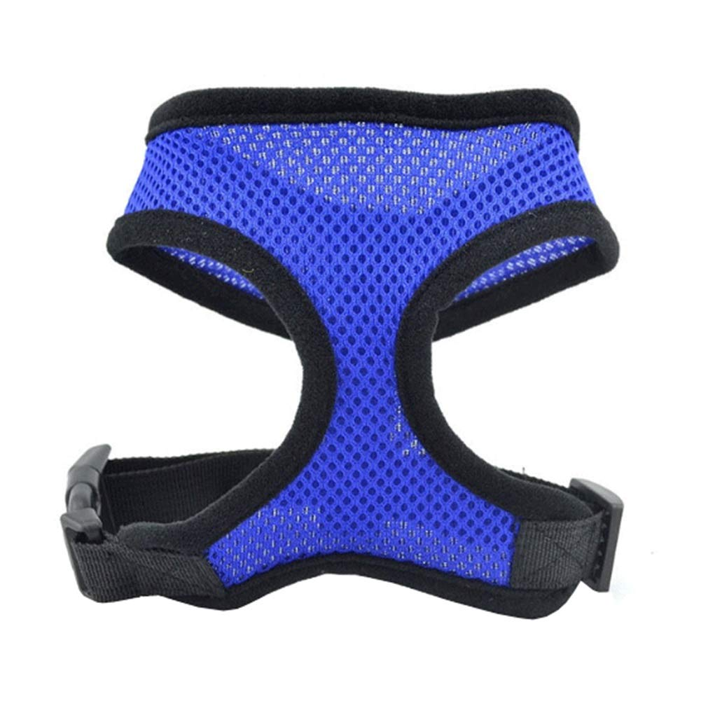 bluee XlDog Vest Harness, Chest Strap Training AntiBreakaway Teddy for Small Medium Large Dogs Vest Safety Buffer Pet Outdoor Walking Rope Supplies (color   bluee, Size   XL)