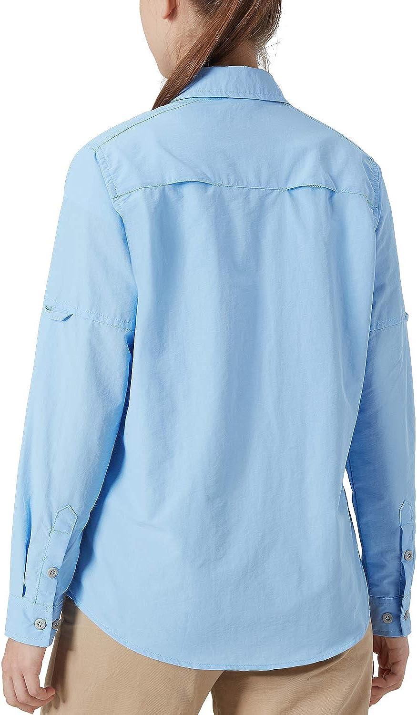 Hiking Shirts Long Sleeve Outdoor Shirts for Camping Fishing Sailing XGEAR Womens UPF 50