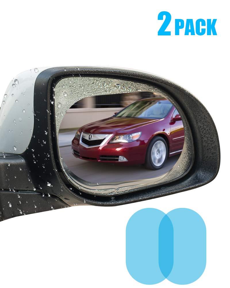 oFami Auto Specchietto Retrovisore Antipioggia Film,Pellicola Antiappannamento Anti-abbagliamento Anti Nebbia Anti-graffio Impermeabile, Confezione da 2 hongshengtianqi