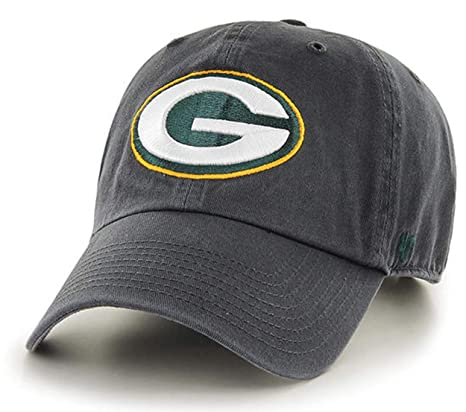 competitive price 04f7f 09962 Amazon.com   47 Brand - Exclusive - NFL Green Bay Packers Vintage  Graphite Dark Gray CleanUp Size  OSFM Adjustable Dad Hat  Sports   Outdoors