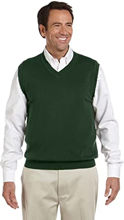 Devon & Jones Men's V-Neck Sweater Vest at Amazon Men's Clothing ...