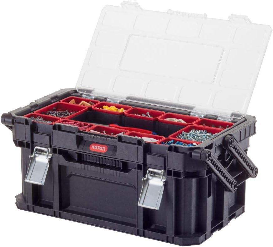 Keter Connect Canti Tool - Caja de herramientas, color negro y rojo: Amazon.es: Bricolaje y herramientas