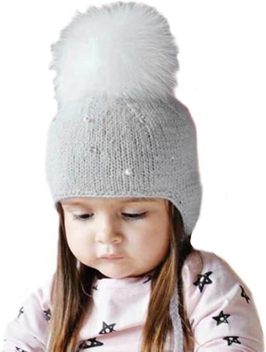 pompones de pelo para gorros y sombrero bebe, Sannysis gorro bebe ...