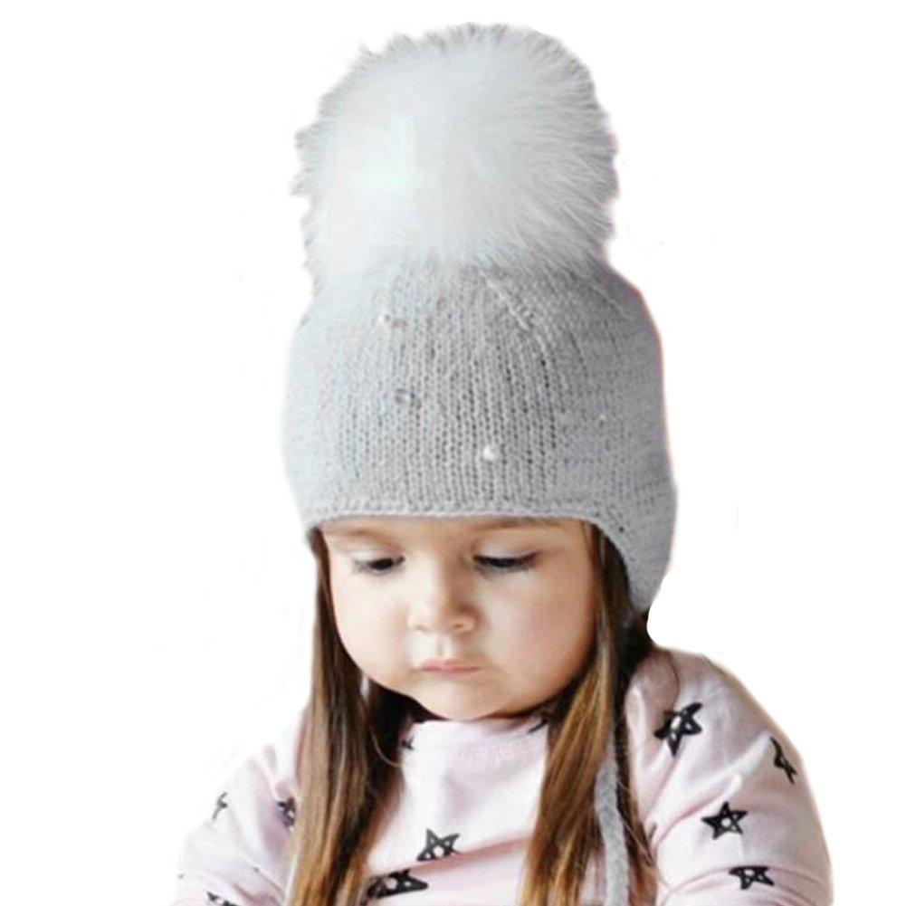 pompones de pelo para gorros y sombrero bebe, Sannysis gorro bebe de ...