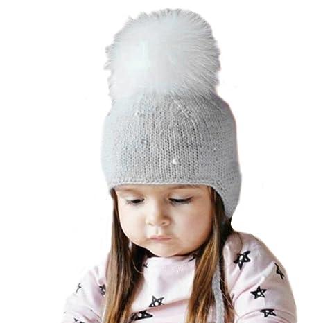 pompones de pelo para gorros y sombrero bebe f427db67481