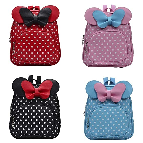 Amazon.com: 2018 Cute Bow Tie Minnie Mochila Cartoon Small School Backpack Mini for Girl Toddler Bacpback Kanken Bolsa: Kitchen & Dining