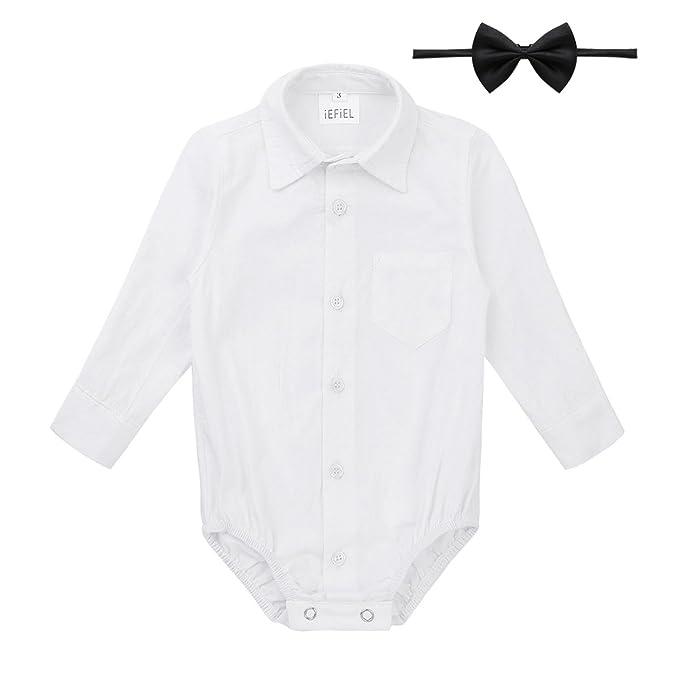 f2483eef87c2 Amazon.com  iEFiEL Infant Baby Boys Long Short Sleeves Gentleman ...