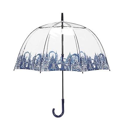 54f077959f0b JSSFQK Household Umbrella Gift Umbrella Transparent Ms. Long Handle ...