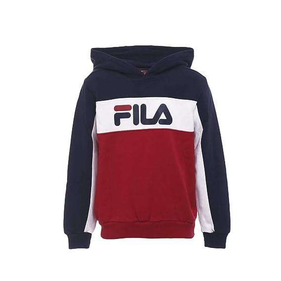 Fila Felpa con cappuccio Logo Tricolor Blu Taglia XL (16 ...