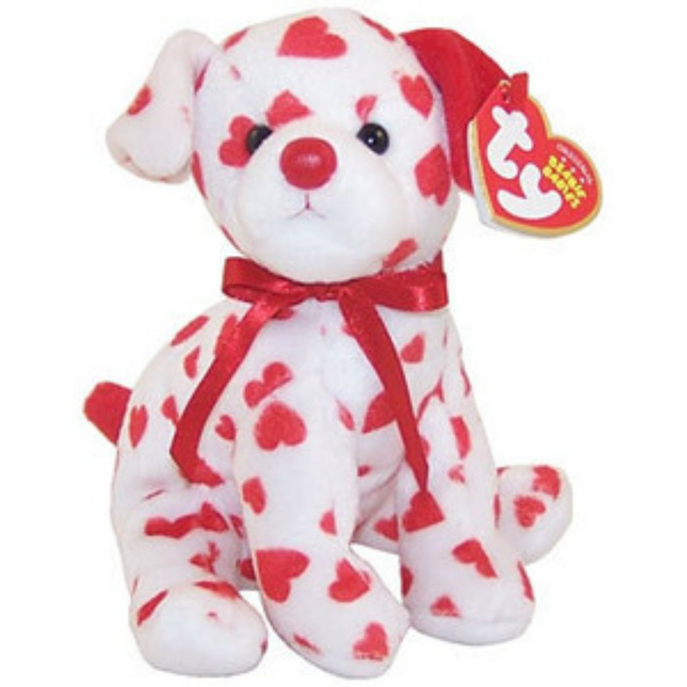 Ty Beanie Babies Hearts the Dog.