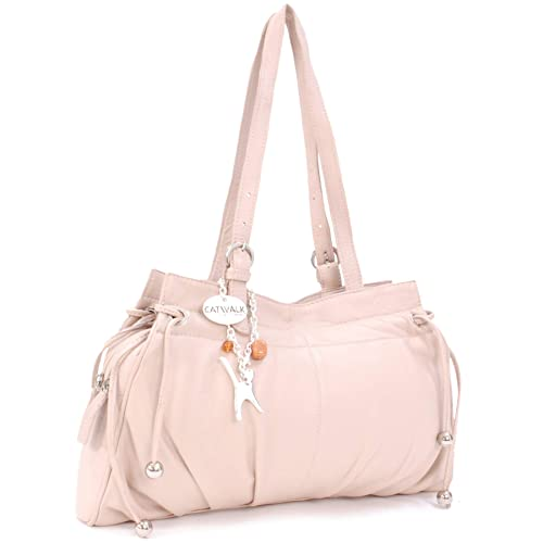 Catwalk Collection Handbags Leather Shoulder Bag - Alice Pink  Amazon.in   Shoes   Handbags 16d6c6b555104