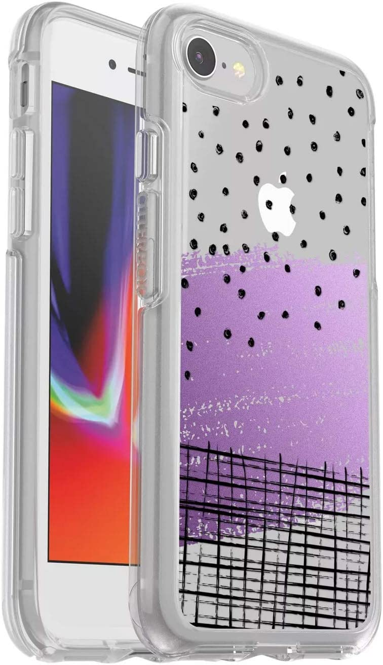 OtterBox Symmetry Series Slim Case for iPhone SE (2020), iPhone 8, iPhone 7 (NOT Plus) - Non-Retail Packaging - Hand Doodle