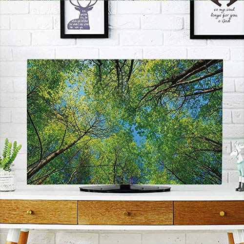 (Television Protector Summer Branches Tranquil Lime Cservati Area Mangrove Willow Paradise Television Protector W35 x H55 INCH/TV 60