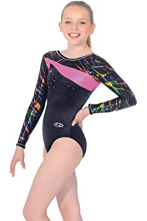 7566b81bd79e Fizz Sleeveless Gymnastics Leotard 38 Sapphire Fizz Print  Amazon.co ...