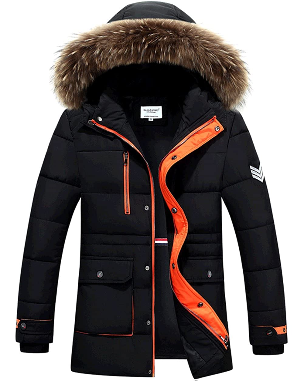 New Mens Fashion Hooded Long Thick Cotton Down Jacket K3K Hot