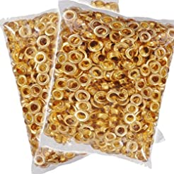 Clevr 300 pc. Brass Colored Grommets & W...