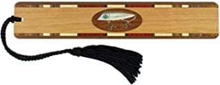 product image for Personalized Vintage Fishing Lure, Engraved and Colorized Wooden Bookmark with Tassel