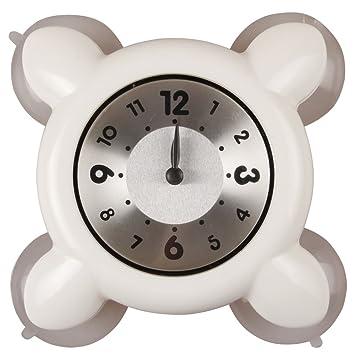 montre etanche horloge dans la salle de bains et la douche cuisine blanc4 - Horloge Salle De Bain Ventouse