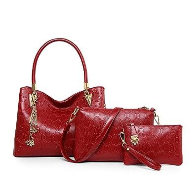 9ea6fcb19c Montmo 3 Pcs Purses and Handbags Set Top-Handle Shoulder Bag Purse for Women  (