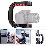 U Grip Pro Camera Stabilizer Handle Grip w 3 Shoe Mounts, Universal Video Action Stabilizing Handle Grip Compatible w Canon N