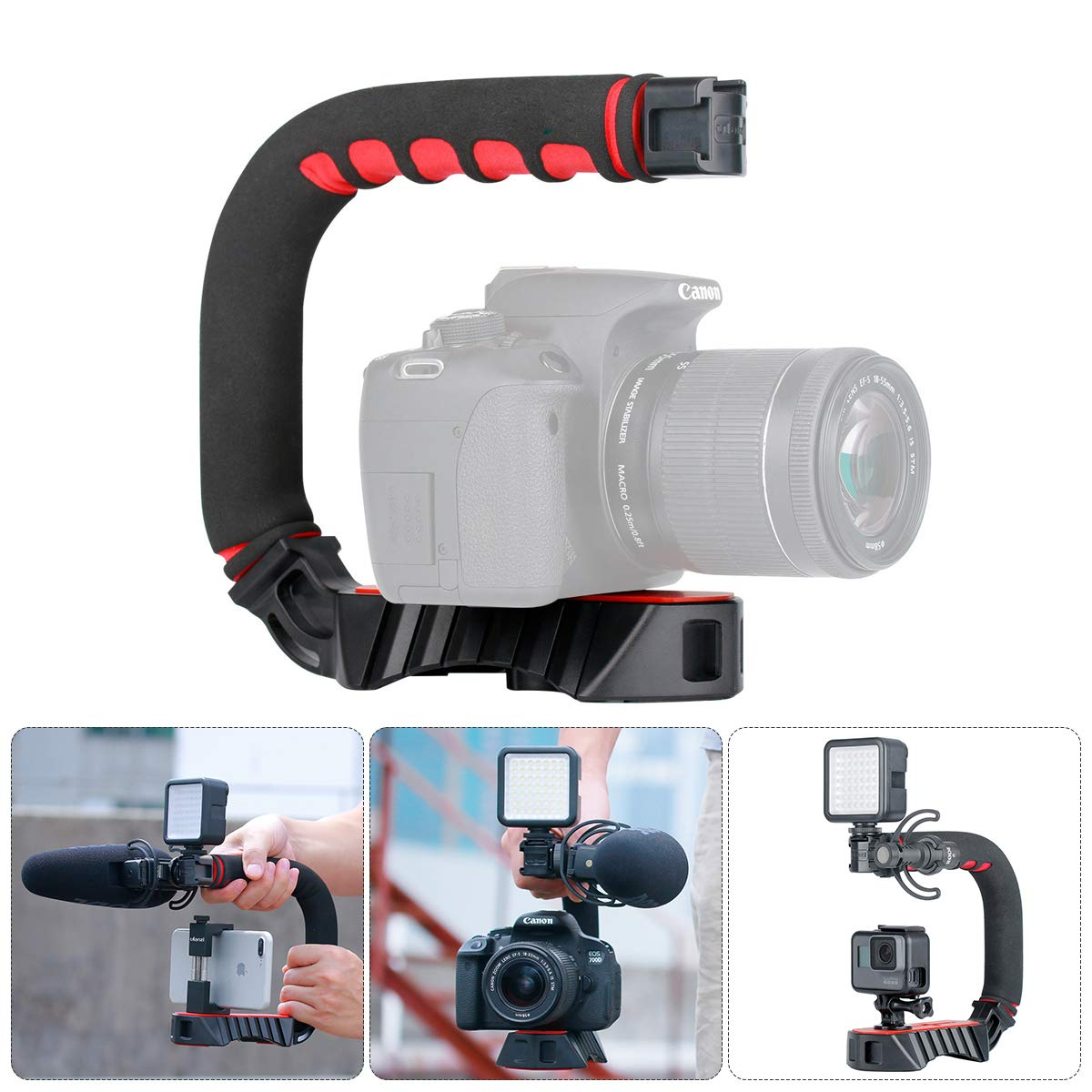 Pro Video Stabilizing Handle Grip for Kyocera Finecam S5R Vertical Shoe Mount Stabilizer Handle