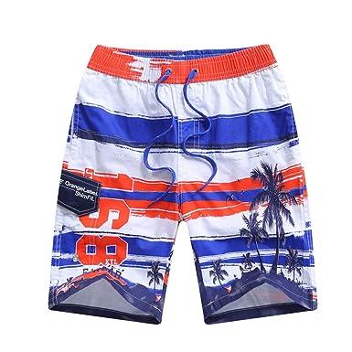 LAPLBEKE Niños Pantalones Cortos de Playa Print Kids Quinto ...