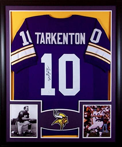 the latest 92e91 3e993 Fran Tarkenton Framed Jersey Signed JSA COA Autographed ...