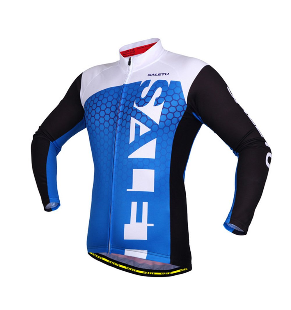 05e9c8171f8 Amazon.com   KIKIYA Mens Cycling Jerseys Long Sleeve Cycle Tops Mountain  Bike MTB Shirt Breathable Elasticity Comfortable Quick Dry Men s Cycling  Jersey For ...