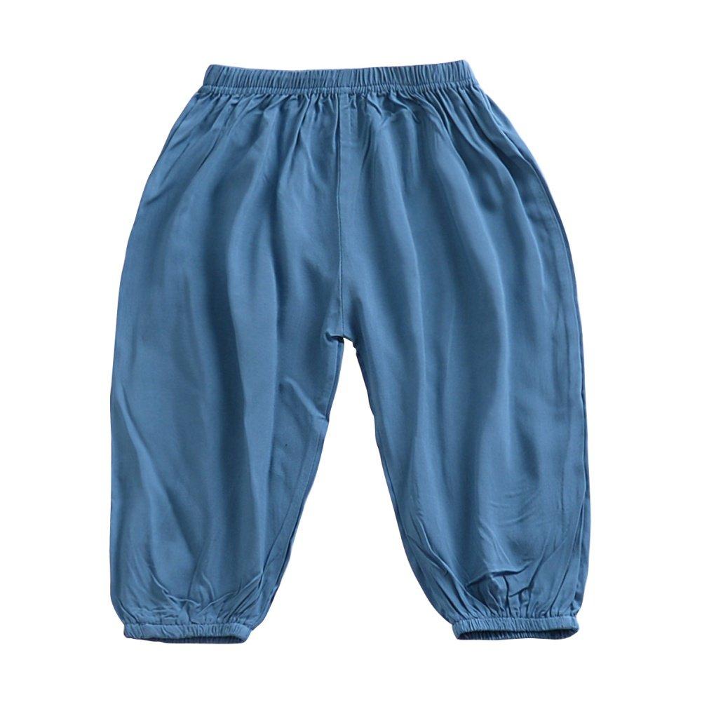 Soly Tech Kids Boys Girls Casual Long Pants Elastic Waist Summer Harem Pants Bloomers