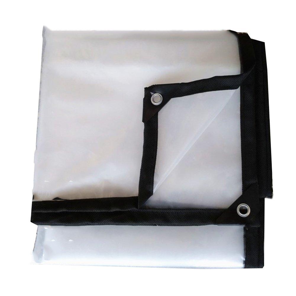 CHAOXIANG ターポリン トランスペアレント 厚い 折りたたみ可能 両面 防水 プラスチッククロス 雨布 PE、 120G/㎡、 16サイズ (色 : クリア, サイズ さいず : 4x12m) B07FVV7P3L 4x12m|クリア クリア 4x12m