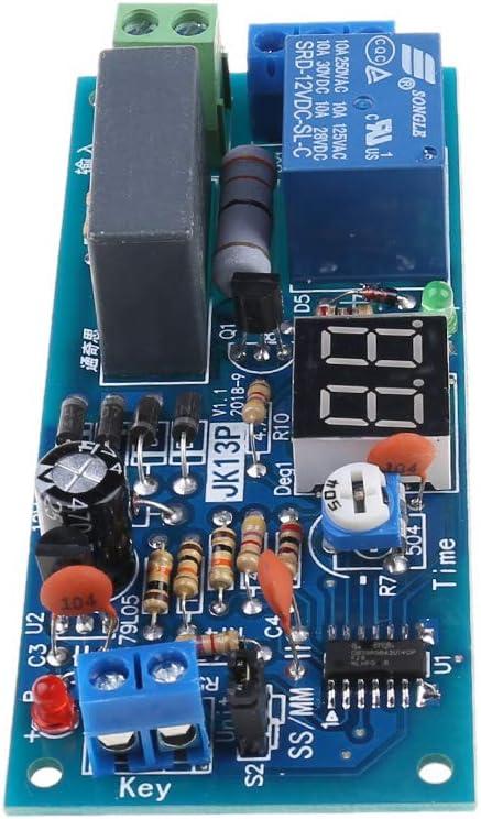 Fivekim Jk13P M/ódulo de rel/é temporizado de retraso de la tarjeta de conmutaci/ón del circuito de temporizaci/ón de la cuenta atr/ás