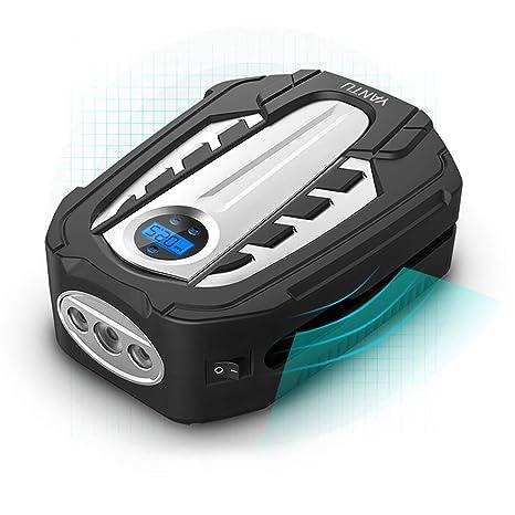 L&K Compresor de Aire Portable, DC12V, inflador del neumático de Digitaces con la luz
