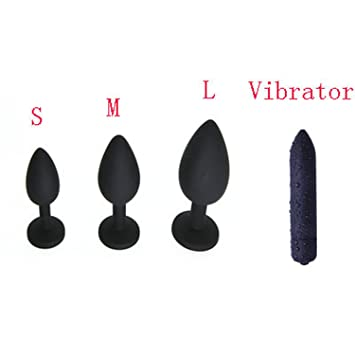 Black Silicone Anal Plug Jewelry Vibrator Sex Toys for Woman Man Prostate  Massager Bullet Vibrador Butt