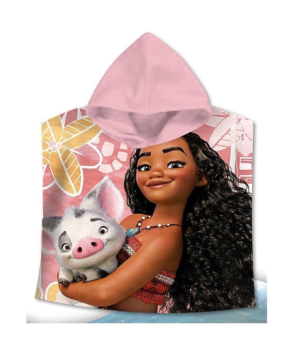 Disny Disney Vaiana (Moana) Hooded Bath Towel,Beach Pool,Poncho Towel,100% Cotton Officially Licensed Vaiana ( Moana)