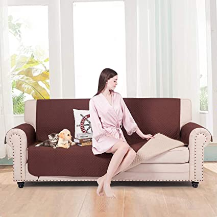 CALA LIFE Extra Large Sofa Cover for Pet Dog Kid ,Reversible Oversized Sofa  Slipcover Anti-Slip Oversized Couch Covers Furniture Protector,Machine ...
