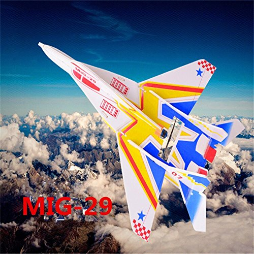 1 Piece 4CH rc plane mig-29 electric remote control fighter jet toy planes kt foam rc airplane with LED light Mig Fighter Planes