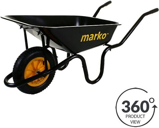 Carretilla jardín carretilla Extra grande 150 kg neumático 85 litros carrito: Amazon.es: Hogar