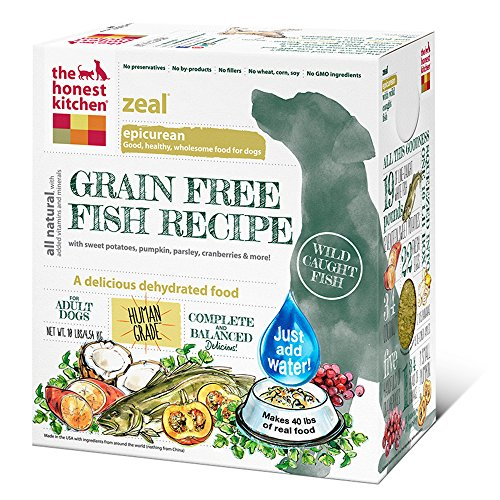 The Honest Kitchen Zeal Grain Free Dog Food - Natural Human Grade Dehydrated Dog Food, White Fish, 10 lbs (Makes 40 lbs) by Honest Kitchen