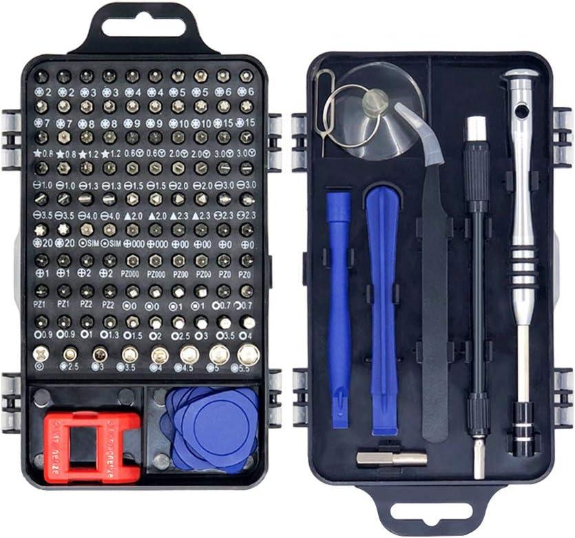 Jacriah Precision Screwdriver Repair Kit, 115 in 1 Electronic General Repair Tools, Phone, Computer, Ipad, Camera, Watch, Game Repair Tools