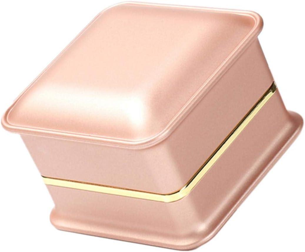 Anillo Caja con LED Anillo de luz caja, LED Anillo de luz caja joyas cajas para Anillo Collar colgante caja joyas vitrina regalo de boda anillos de compromiso San Valentín: Amazon.es: Belleza