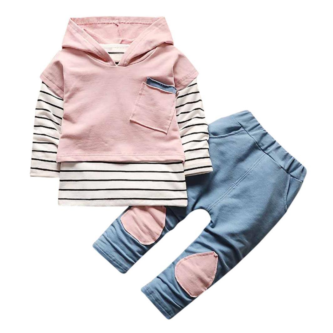Lylita 2pcs Bambino Bambina Fox Maglia Manica Lunga Camicia Top Pantaloni Abiti Vestito