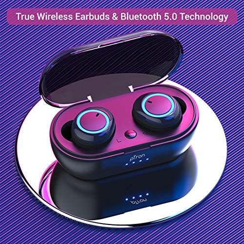 pTron Bassbuds in-Ear True Wireless Bluetooth Headphones (TWS) with Mic - (Black) 2