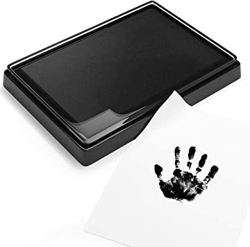 Black Singa-Z Baby Ink Pad,Baby Safe Print Ink Pad,Non-Toxic Reusable Feet /& Hands Stamps