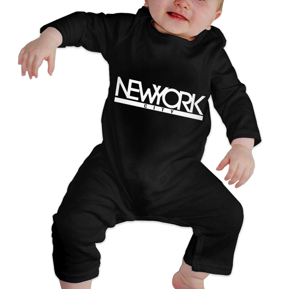 New York City Unisex Long Sleeve Baby Gown Baby Bodysuit Unionsuit Footed Pajamas Romper Jumpsuit