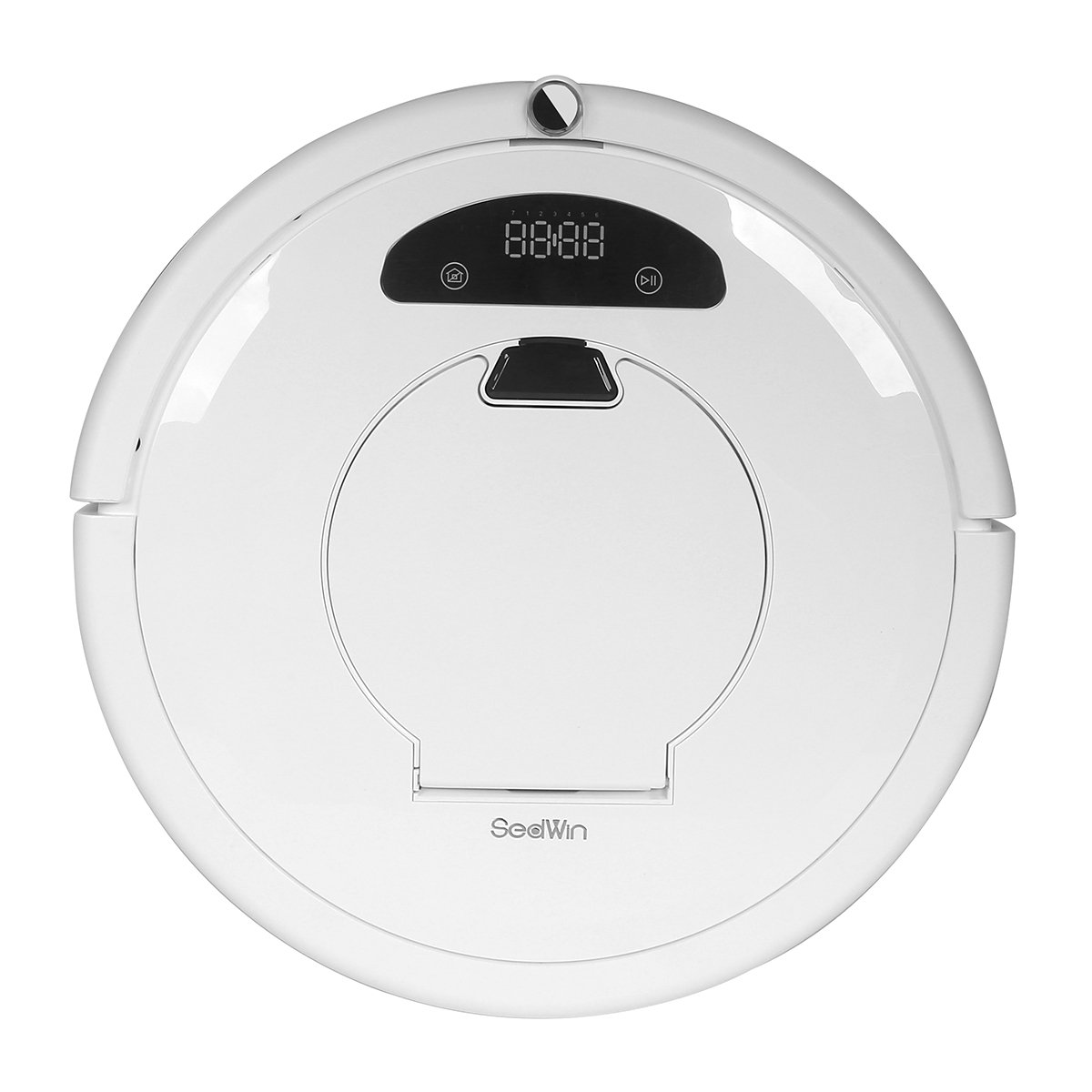 Sedwin Robotic Vacuum Cleaner for Pets and Allergies Home, Pearl White, Remote Control Self Charging Cleaning Devices