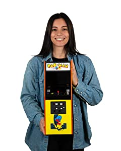 quarter arcades Official PAC-Man 1/4 (17 Inches Tall) Mini Arcade Cabinet by Numskull – Playable Replica Retro Arcade Game Machine – Micro Retro Console